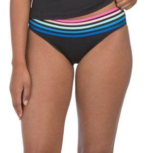 NWT La Blanca Rainbow Hipster Bikini Bottoms Sz 16